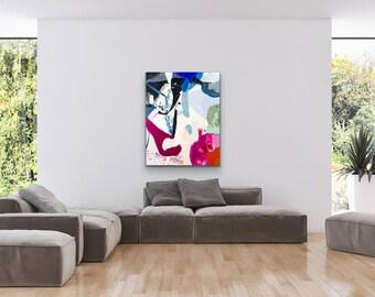 Canvas & Paper Abstrac Full Color  VI