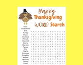 Thanksgiving Word Search,...