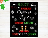 Christmas Printable Instant Print, Christmas Sign, Elf, The Best Way To Spread Christmas Cheer, Holiday, printable, instant download