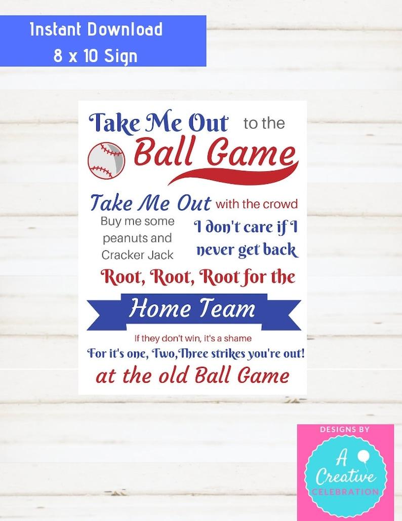 Baseball Party Printables Instant Downloan Boys Room Decor image 0