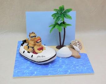 Reise-Karte Spardose Boot, Geldgeschenk, Gutschein, Geburtstag, Reisezuschuss, Geld verschenken, Urlaub, Geldgeschenk Reise, Schiff, Karte