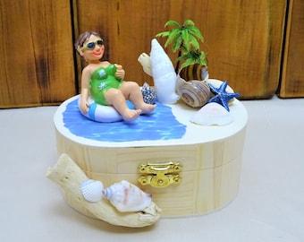 Mini Geschenkbox Reise, Urlaubskasse, Geldgeschenk Geburtstag, Gutschein verpacken, Geschenk Frau, Geschenkbox Geburtstag, Urlaubsgutschein