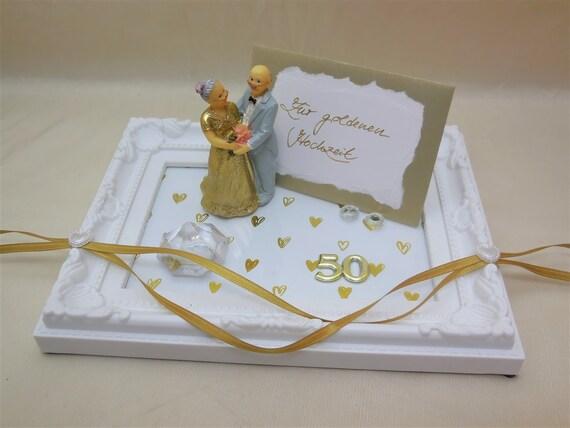 Geschenk Zur Goldenen Hochzeit Geldgeschenk Gutschein Goldhochzeit Kunststoff Rahmen 50 Jähriges Jubiläum Geldgeschenk Verpacken