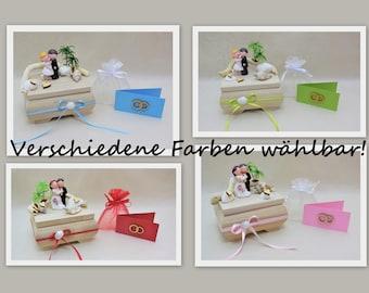mini Holzbox Hochzeit, Geldgeschenk Hochzeit, Hochzeitskarte, Hochzeitsgeschenk, Hochzeitsreise, Flitterwochen Geschenk, Geschenkbox, rosa