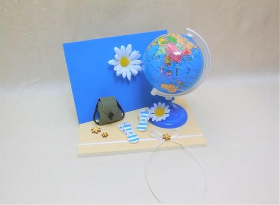 Mini Karte Urlaub Reise Globus Weltreise Geschenk Etsy