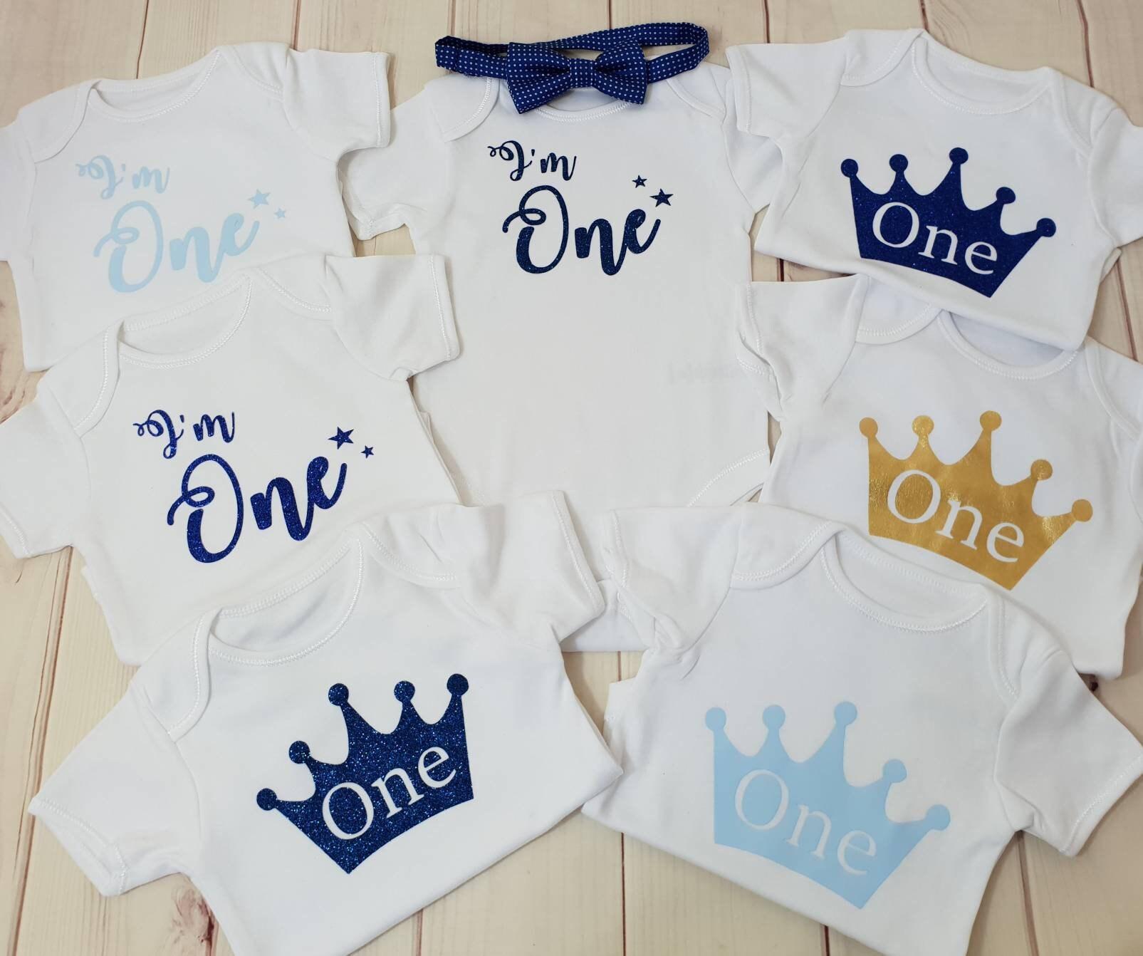 a35de19b9 I'm one baby boy 1st birthday outfit bodysuit vest top | Etsy