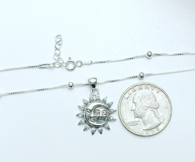Moon And Sun Anklet Crescent Moon With Sun Charm Anklet Boho Foot Jewelry Sterling Silver Beaded Ankle Bracelet