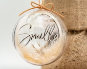 Name ball personalized with name and pampas grass Tree ball Boho Weihnachtskugel