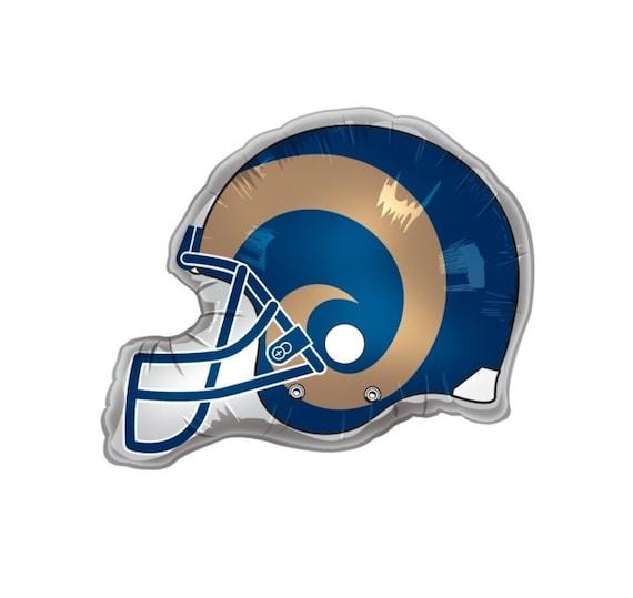 Los Angeles Rams Helmet Balloon Rams Football Balloon Nfl Etsy