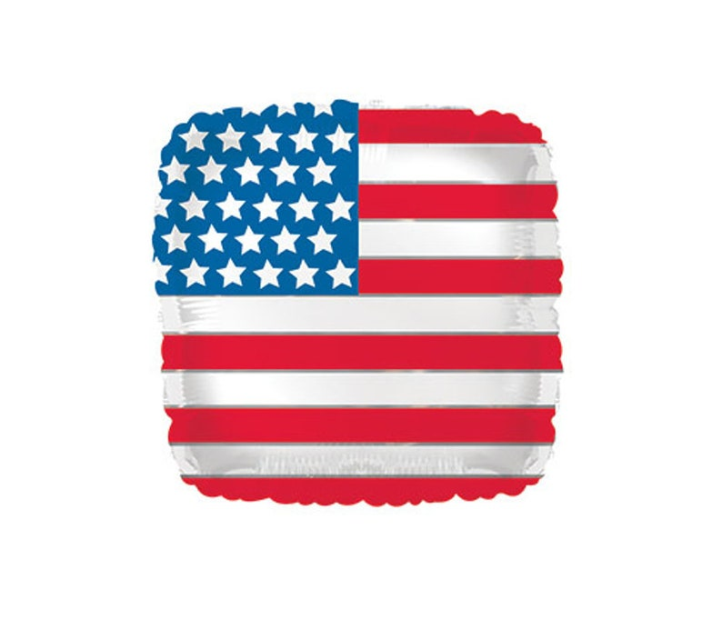 """American Flag Foil Balloons 18/"""" Independence Day USA  4th July Party Deration"""