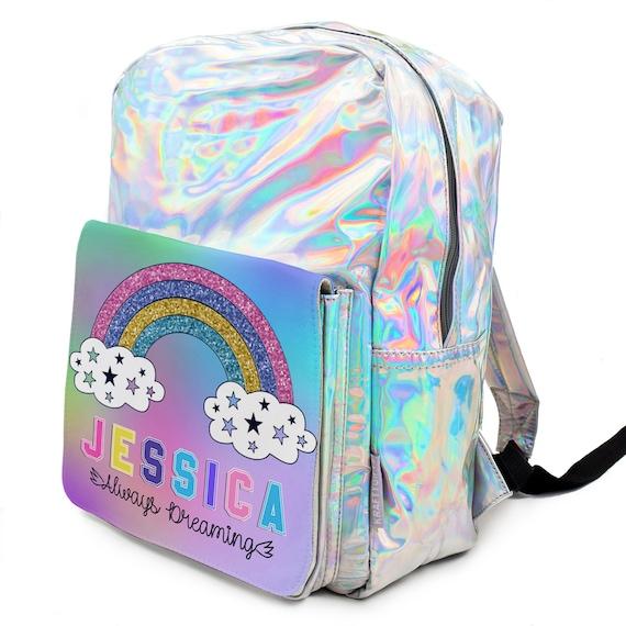 Unicorn Mini Backpack Shoulder School Bag Sequins Shiny Fancy Accs for Kid Girls