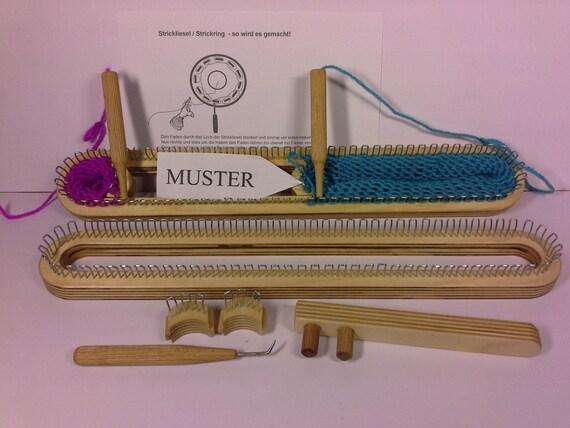 90 knitting frame variable knitting socks ring - Strickrahmen Muster
