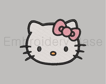 Bonjour kitty applique broderie design applique hello kitty