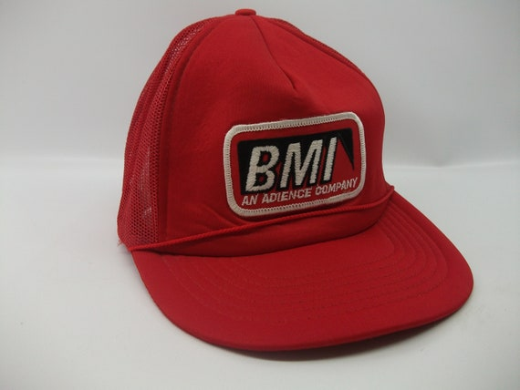 BMI Patch Hat An Adience Company Vintage Red Snapb