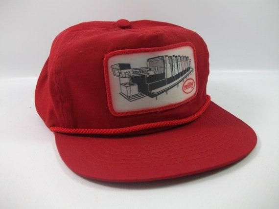 Miller Patch Hat Vintage Red Snapback Baseball