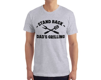 Download Free stand back dad's grilling t shirt - dad gift - dad t shirt - mens t-shirt mockups PSD Template