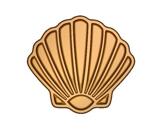 3.5 Seashell 3D Printed Cookie Cutter #P8145