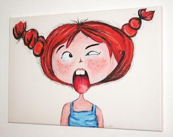"Canvas image 40 x 60 cm-""Frida"" Püppi's"