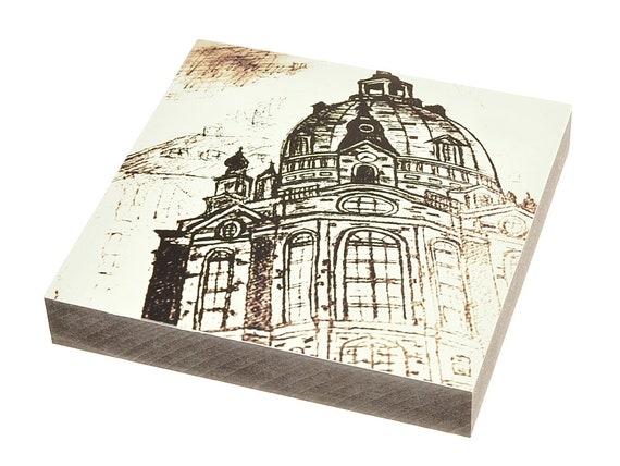 """Wooden painting - Dresden """"Frauenkirche"""""""