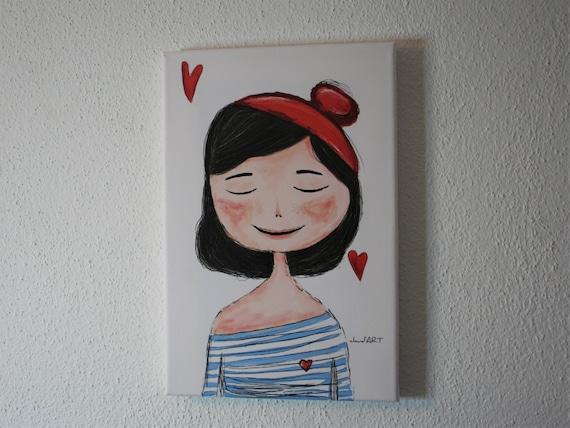 "Canvas 20 x 30 cm - ""Charlott"" Püppi's"