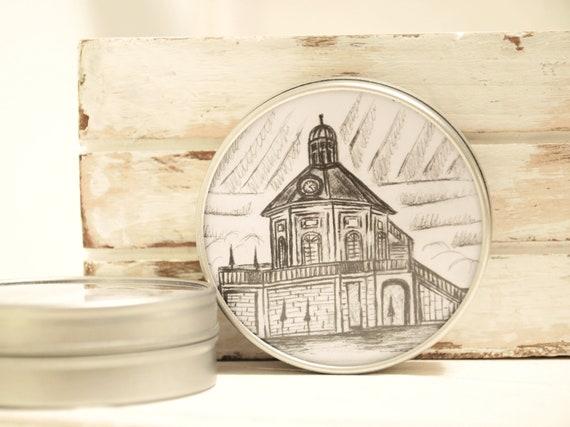 """Metal can 6.7 cm Ø-Dresden """"Schloss Wackerbarth"""""""