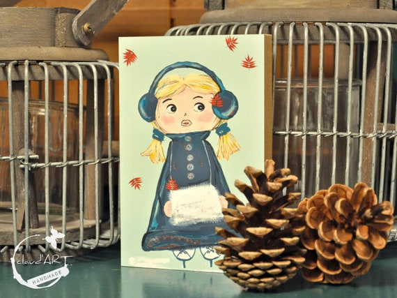 "Wooden picture 10 x 15 cm - ""Mira"" Christmas-Püppi's"