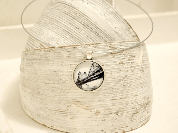 """Necklace silver - Dresden """"Blue Miracle"""" B/W"""