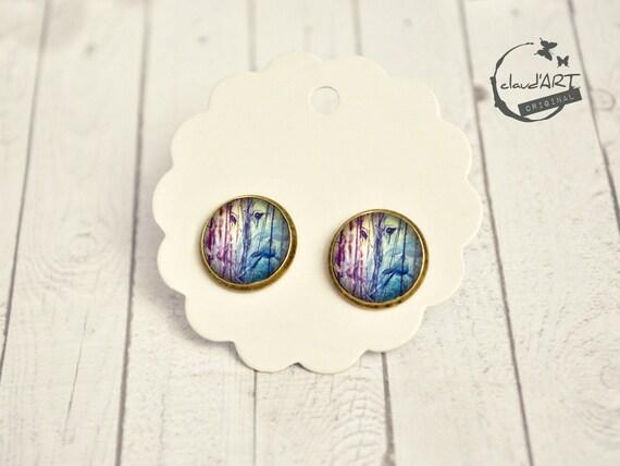 """Earrings Set Bronze Deaf-daydreamer """"Elephant Couple"""""""