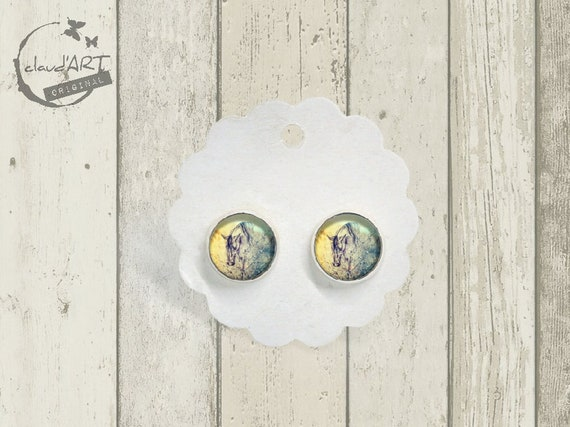"Earrings Set Silver Colors-daydreamer ""Horse"""