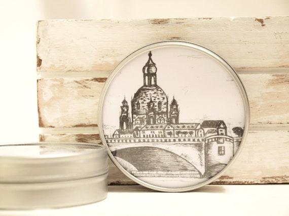 """Metal can around 6.7 cm Ø-Dresden """"Canalettoblick"""""""