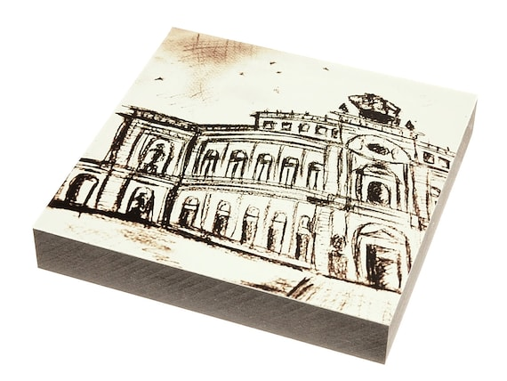 "Wooden painting - Dresden ""Semperoper"""