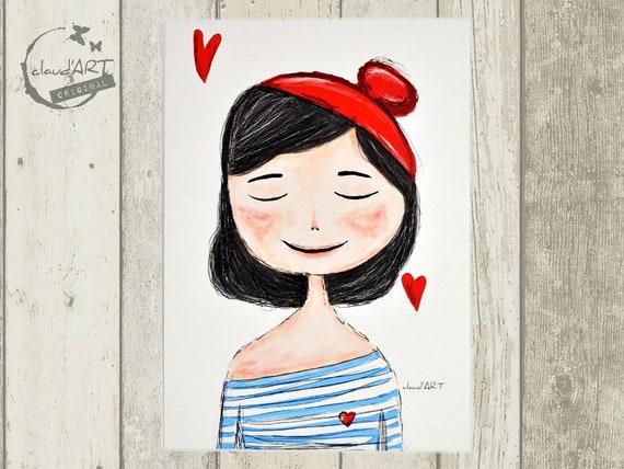 "Postcard 10 x 15 cm - ""Charlott"" Püppi's"