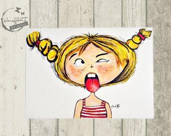 """Postcard 10 x 15 cm - """"Maja"""" Püppi's"""