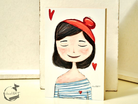 "Wooden picture 10 x 15 cm - ""Charlott"" Püppi's"