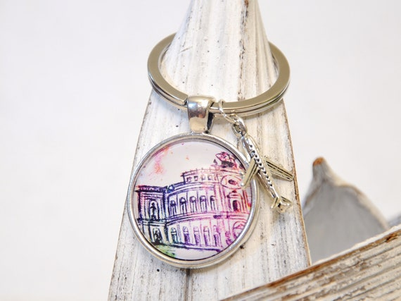 "Keychain colorful - Dresden ""Semperoper"""
