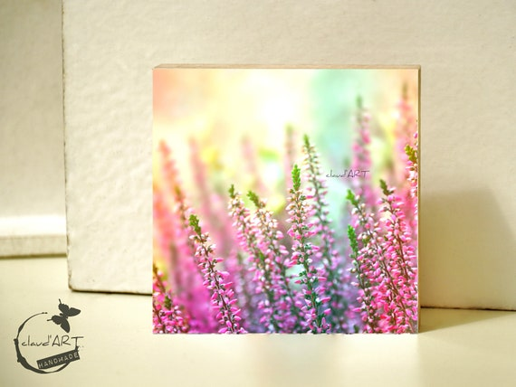 "Photo on wood 10x10-""Summer Meadow"" No. 10"