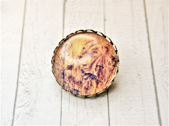 "Brooch m. needle bronze 25 mm-""lion"" daydreamer"