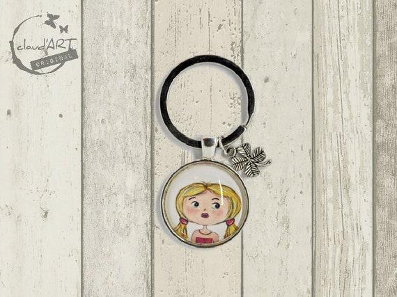 "Key ring with pendant (clover leaf) - ""Mira"" Püppi's"