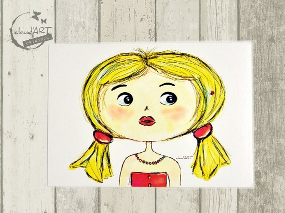 """Postcard 10 x 15 cm - """"Mira"""" Püppi's"""