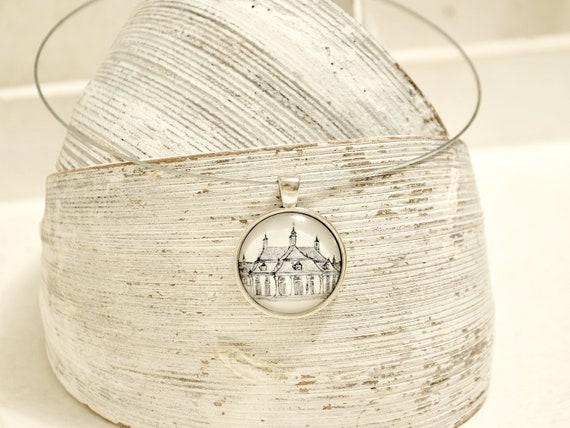 "Necklace Silver-Dresden ""Pillnitz"" b/w"