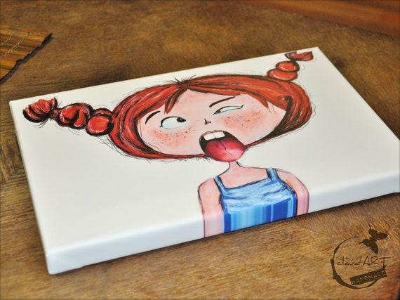 "Canvas picture 20 x 30 cm-""Frida"" Püppi's"