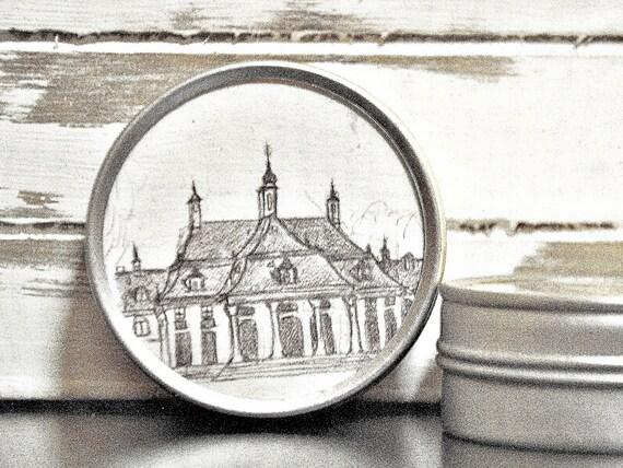 """Metal can around 5 cm Ø-Dresden """"Schloss Pillnitz"""""""