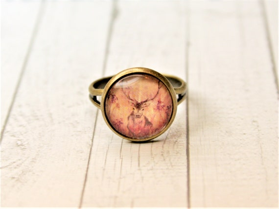 "Ring bronze-daydreamer ""deer"""