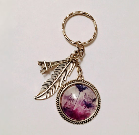 "Keychain silver color. -""Squirrel"" daydreamers"