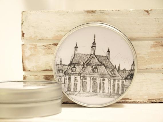 """Metal can 6.7 cm Ø-Dresden """"Schloss Pillnitz"""""""