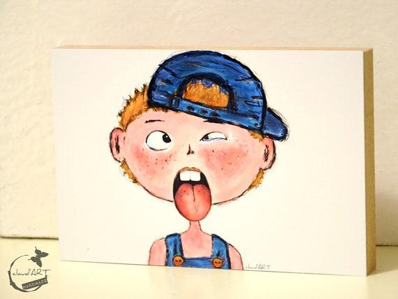 "Wooden picture 10 x 15 cm - ""Ben"" Püppi's"