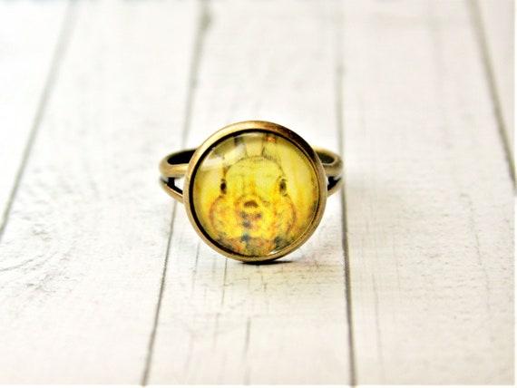 """Ring bronze-daydreamer """"bunny"""""""