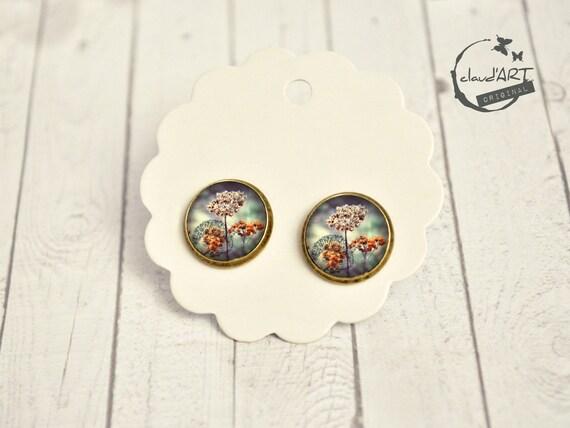 "Earrings set bronze. -daydreamer ""hedgehog"""
