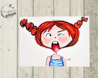 "Postcard 10 x 15 cm - ""Frida"" Püppi's"