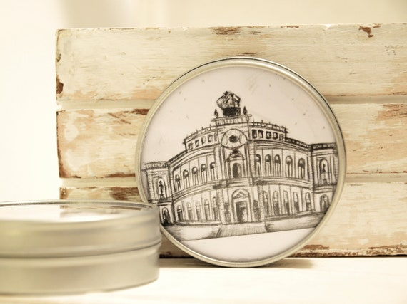 "Jewellery box Round 5 cm Ø-Dresden ""Semperoper"""